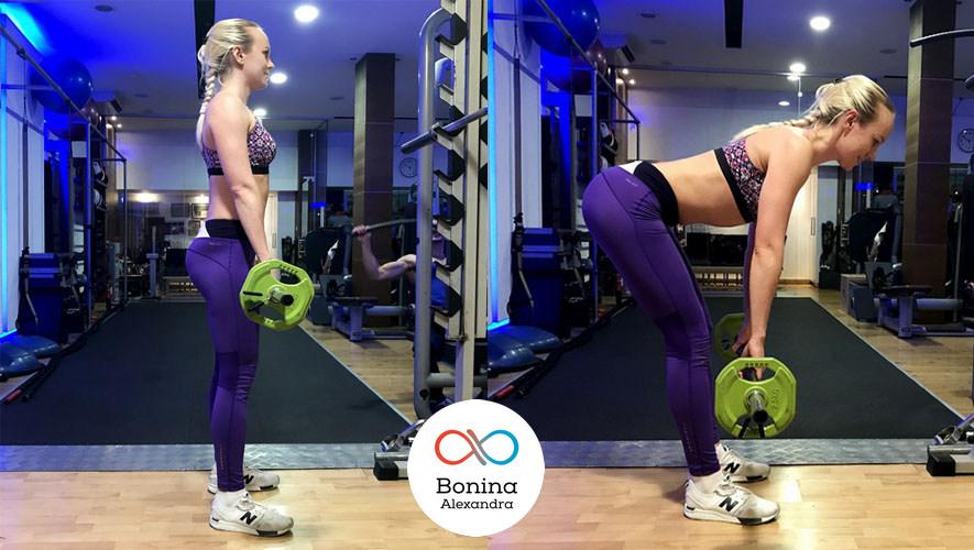 Вид становой тяги: румынская тяга