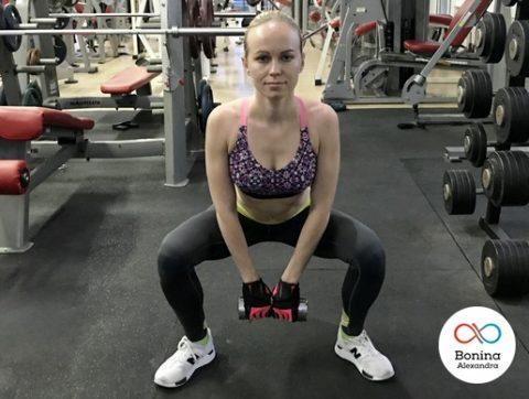 Приседания плие: техника, работающие мышцы, вариации с гантелей, гирей, в смите