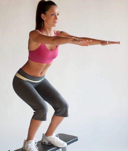 Техника приседания при похудении
