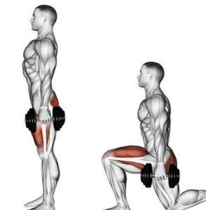 Какие мышцы развивают выпады с гантелями