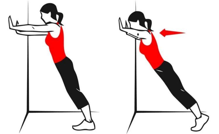 Какие мышцы задействованы в отжиманиях от стены