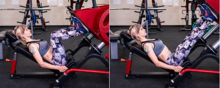 Техника выполнения жима ногами в тренажере для женщин