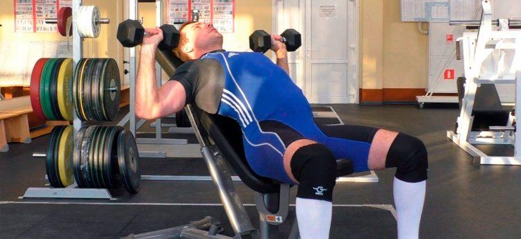 Советы по выполнению жима гантелей на наклонной скамье
