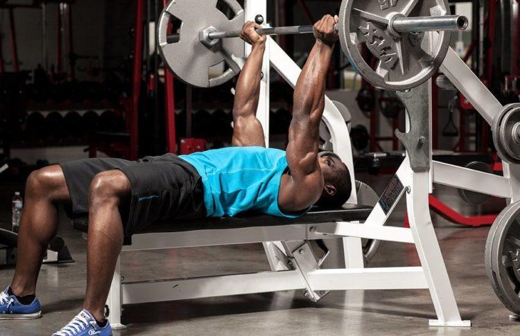 Мышцы задейстованные в жиме штанги лежа обратным хватом