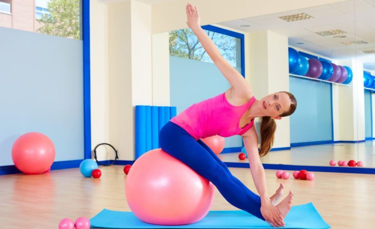 Гимнастика для похудения на мяче