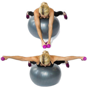 Как качать мышцы на фитболе?
