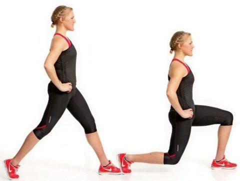 Как правильно делать выпады назад (обратные выпады): со штангой, с гантелями, без веса