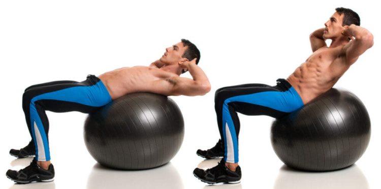 Комплекс упражнений с фитболом