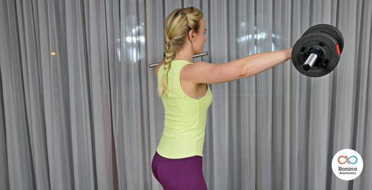 Базовые упражнения с отягощением на плечи