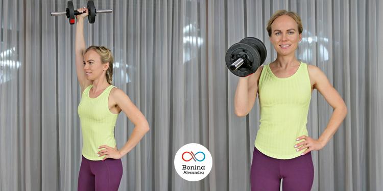 Жим с отягощением в одной руке для тренировки плеч
