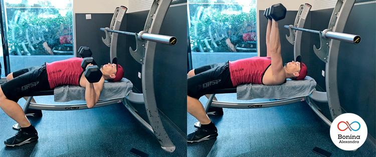 Тяга штанги для тренировки плеч
